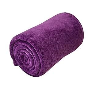 東京西川 マイクロファイバー 毛布 シングル 140×200cm バイオレット マシュマロちっくな肌触り