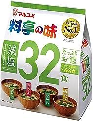 マルコメ たっぷりお徳料亭の味 減塩 32食 528g