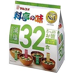 マルコメ たっぷりお徳料亭の味 減塩 32食