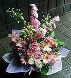 開店祝い 誕生日 人気ランキング プレゼント おまかせ ベビーピンク色 フラワーアレンジメント お祝い 開店花