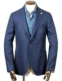 ラルディーニ LARDINI / 【国内正規品】18SS!リネンコットンサマーツイード3Bジャケット『JM0526AQ』 (ネイビー) メンズ