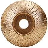 Honeytecs Woodworking Wood Angle Grinding Wheel Sanding Carving Rotary Tool Abrasive Disc For Angle Grinder Tungsten Carbide Coating Bore Shaping