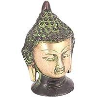 Indianシェルフvzk421真鍮Buddha Head Statue
