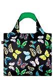 WILD Butterflies Bag: Gewicht 55 g, Groesse 50 x 42 cm, Zip-Etui 11 x 11.5 cm, handle 27 cm, water resistant, made of polyester, OEKO-TEX certified, can carry up to 20 kg