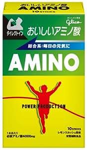 グリコ パワープロダクション おいしいアミノ酸 必須アミノ酸スティックパウダー 総合系アミノ酸 レモンスカッシュ風味 1本(4.7g) 10本