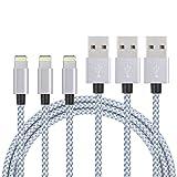 Sonxe usb iPhoneケーブル コンパクト端子 急速充電のlightning usbケーブル【3本セット1m+2m+3m】