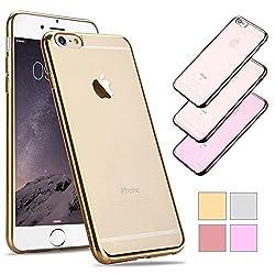 サイドメッキ仕様 (ゴールド)iPhone7専用クリアケース