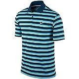 ナイキ ポロシャツ ナイキ NIKE DRI-FIT テックベントストライプ半袖ポロシャツ 639720 496 ブルーフォース/クリアウォーター/ウルフグレー L