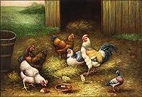 手書き-キャンバスの油絵 - 美術大学の先生直筆 - amb0010D13 fowl 動物 絵画 洋画 複製画 Fowl ホームデコレーション -サイズ04