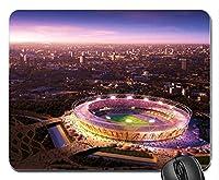 ロンドンオリンピック会場夜景新しいデザインラバーコンピューターマウスパッドマット