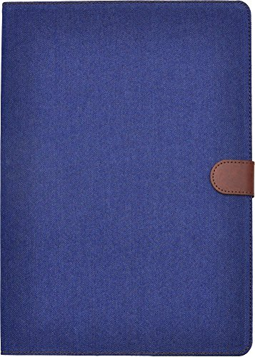 PLATA iPad Pro 12.9 インチ ( 2015 モデル ) ケース カバー デニム ジーンズ スタンド  12.9inch 【 ネイビー 紺色 紺 】 IPDP-63-B