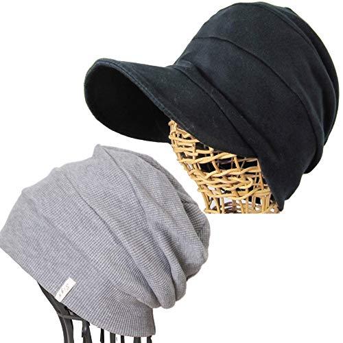 抗がん剤帽子 医療用帽子 オーガニックコットン 段々ワッチ杢...