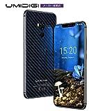 UMIDIGI Z2 Pro SIMフリースマートフォン 6.2インチ FHD+ 大画面 2246x1080 19:9ディスプレイ Android 8.1 15Wワイヤレス充電 6GB RAM + 128GB ROM Helio P60オクタコア 16MP + 8MPクアッドカメラ デュアルSIM 4G LTE 顔認証 指紋認証 二年保証 (カーボンブラック)