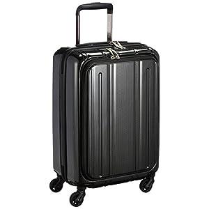 [エバウィン] 軽量スーツケース Be Light フロントオープン 機内持込可 機内持込可 30.0L 55cm 2.8kg EW31240 BKC ブラックカーボン