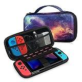 Fintie Nintendo Switch ケース ニンテンドースイッチバッグ 任天堂 Switch EVA ハード 収納カバー ポータブルトラベルストレージバッグ Joy-Conとアクセサリー対応 ゲームカードスロットとインナーポケット付き ダブルジッ
