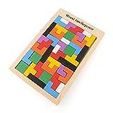 AYWS 木製 テトリス タングラム たんぐらむ パズル  知育玩具 教育玩具