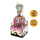 Robotime オルゴール 立体パズル 木製 レーザーキット DIY クラフト 手回し 少女 誕生日プレゼント (スワンプリンセス)