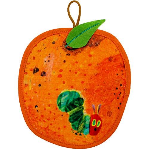 ループ付きタオル はらぺこあおむし フルーツ大好き オレンジ 19×20cm PF431906