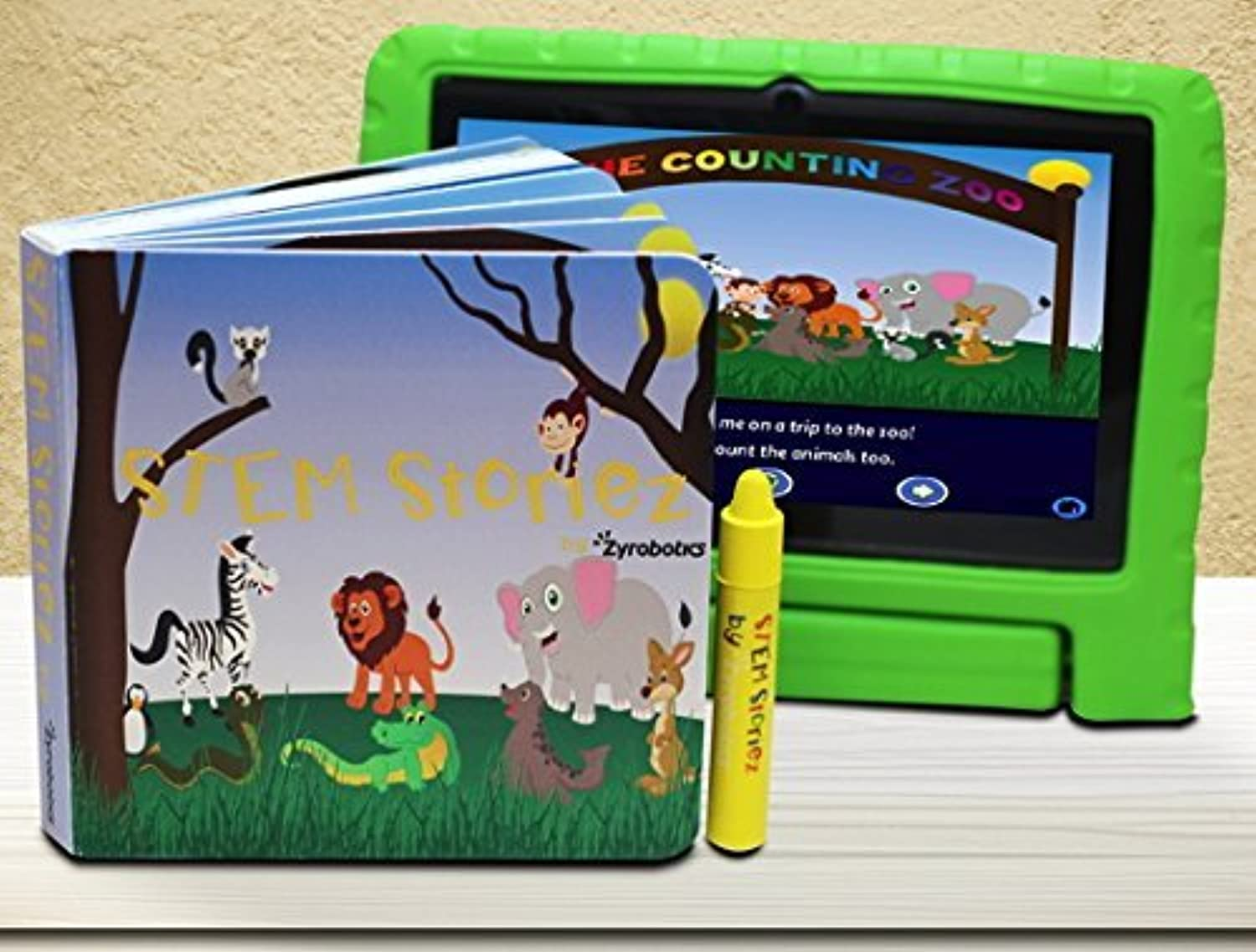 Stem Storiez Books for Early学習者。インタラクティブpre-stem学習キッズ3 – 7 ( Counting動物園)