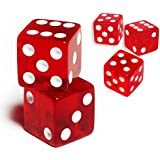 19 mm d6 6面ゲーム透明Casino Dice (3 ~ 15pcs)