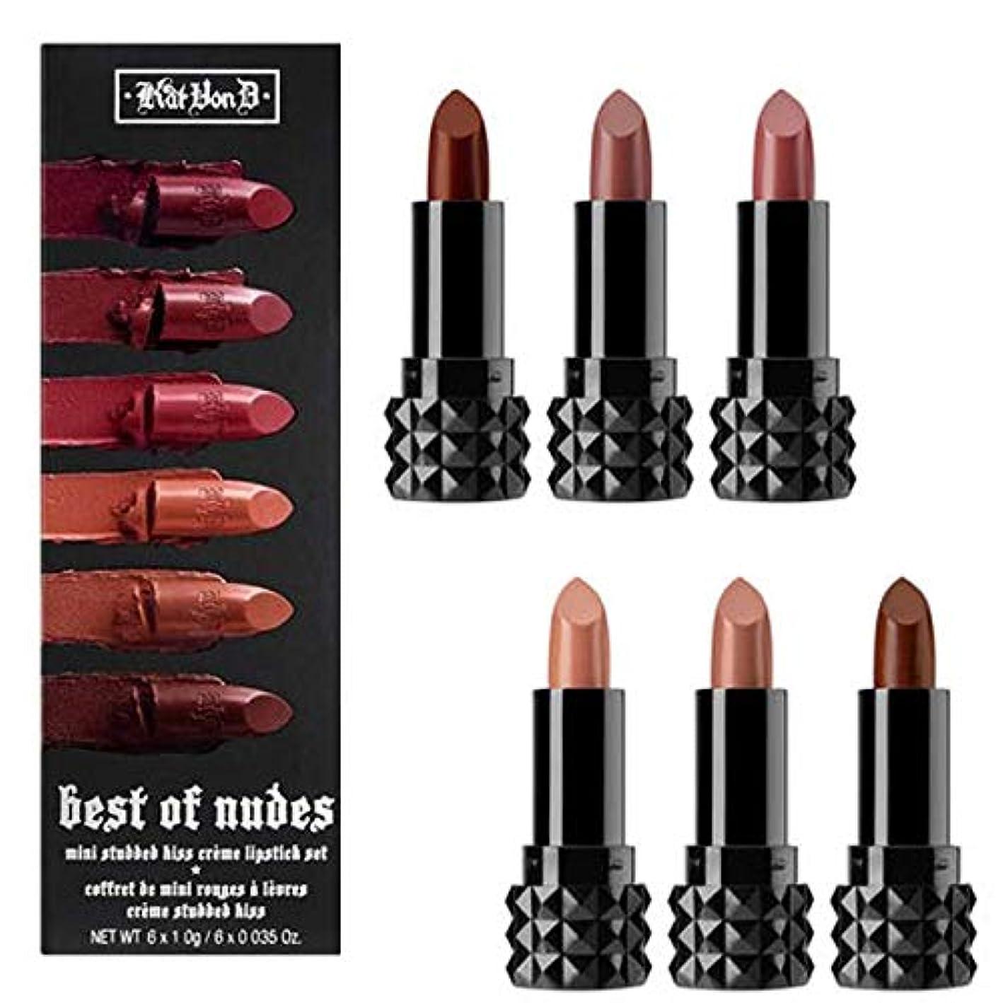 リーチ人質腐敗Kat Von D キャットヴォンD, 限定版 Best of Nudes Mini ミニ Studded Kiss Crème Lipstick Set [並行輸入品] [海外直送品]