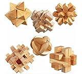 木製 立体 パズル 6種類 セット 知的 玩具 頭の体操