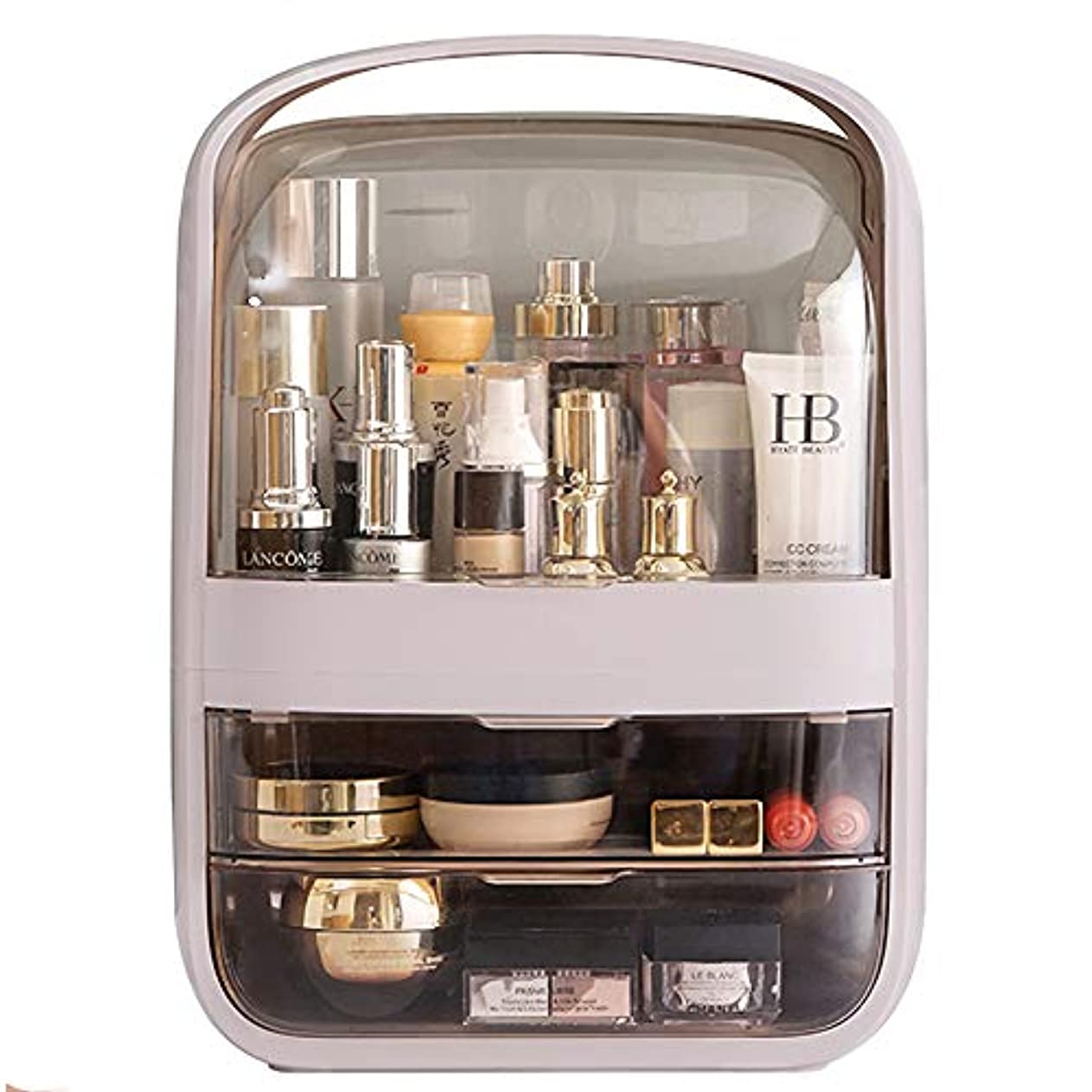 MAGIC UNION メイクボックス 化粧品収納ボックス 防塵 防水 大容量 ックス メイクケース 持ち運び 化粧箱 卓上収納 寝室 浴室 洗面所 家庭用