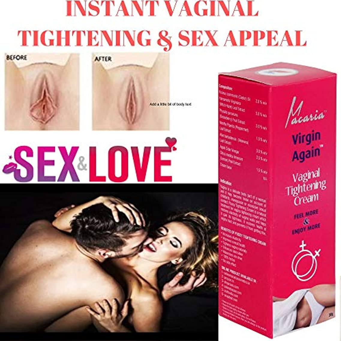 面チャペルツーリストVIRGIN AGAIN CREAM (VAGINAL VAGINA TIGHTENING CREAM GEL LOTION