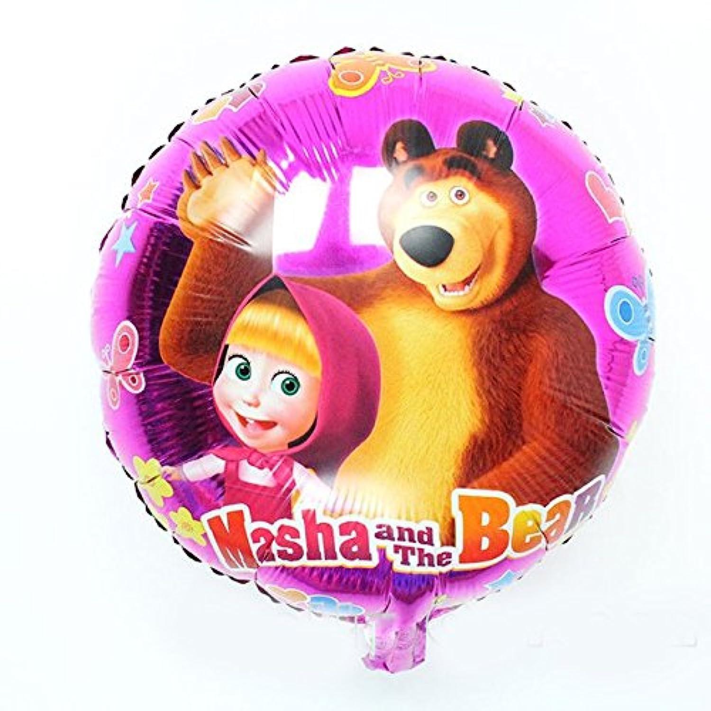 [ rustoyshop ] 1 PscメタルインフレータブルバルーンMasha and Bear For A Holiday Children 'sキッズパーティーパーティーFavorパーティーSupplies招待Deco Russian Cartoon