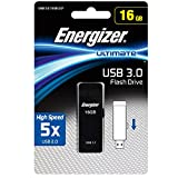Energizer エナジャイザー メモリ (16GB, USBメモリ 3.0 黒のスライダー)