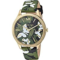 Michael Kors Women's Quartz Watch analog Display and Leather Strap, MK2811