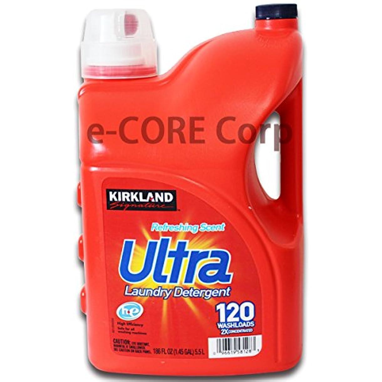 ものメイド人工的なKirkland Ultra カークランド ウルトラ 2X 液体洗濯洗剤 リフレッシングセント2倍濃縮 5.5L 約120回分