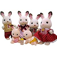 Calico Critters Hopscotch Rabbit Family and Twins Bundle by Calico Critters [並行輸入品]