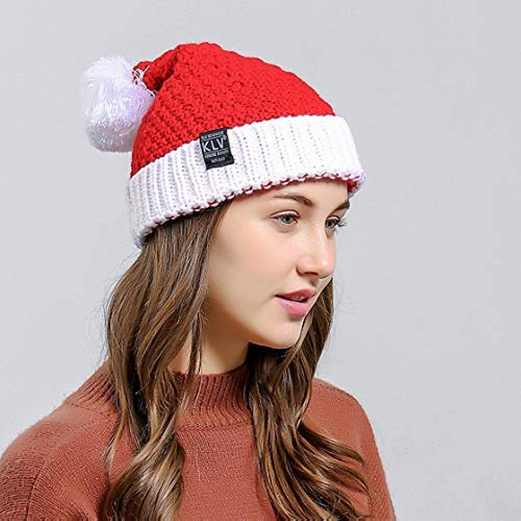 元気な区別する試してみるユニセックス暖かい分厚い厚い伸縮性ニットスカルキャップクリスマス冬編み帽子カジュアル屋外帽子用女性男性
