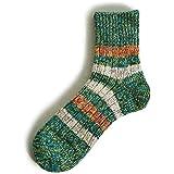 (マウナケア) Mauna Kea 多色絣 配色 ボーダー ソックス ミドル丈 くつ下 靴下 杢調 丈夫 伸縮性