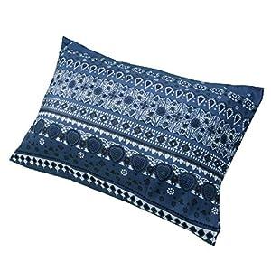 東京西川 枕カバー ブルー 63X43cmのサイズの枕に対応 北欧柄(バンダナ) 速乾 SEVENDAYS セブンデイズ PJ08000561B