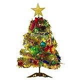 クリスマスツリー 50-150cm ミニツリー オーナメントセット 電球 飾り付き プレゼント クリスマスグッズ ギフト (50cm)