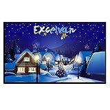 Excelvan モバイルスクリーン 100インチ 16:9 ホームシアター プロジェクタースクリーン