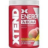Scivation Xtend Energy BCAA Powder with Caffeine, Mango, 30 Servings