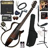 YAMAHA サイレントギター 初心者 入門 細めのネック形状に、弦長634mmスケールを採用。SRTパワードピックアップシステムを搭載したスチ..