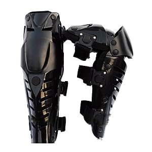 【ノーブランド品】ニー シンガード 2個セット 膝パッド プロテクター(黒x黒) a263b