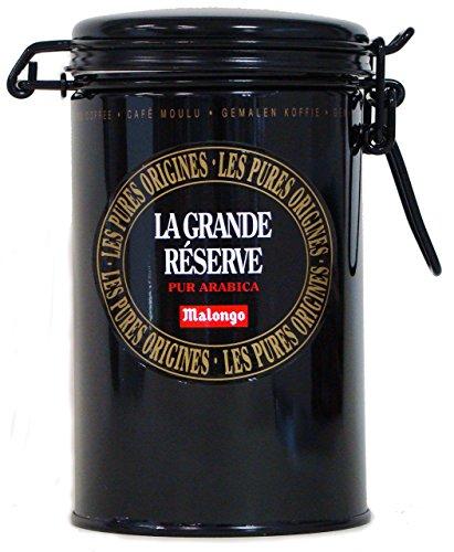 Malongo マロンゴ レギュラー コーヒー (粉) ラ・グランド・レゼルヴ La Grande Reserve 細挽き 密封プルトップ缶 250g