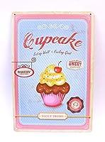 【アメリカ雑貨】ブリキ看板 cupcake レトロ看板 30cm×20cm アルミデザインボード プレート [並行輸入品]