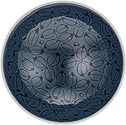 白山陶器 平茶わん 紺 (約)φ15×5.3cm 森正洋デザイン 波佐見焼 日本製