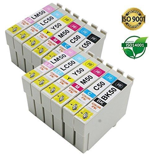 【Color-ink】IC6CL50 2パックセット (6色×2パック) EPSON( エプソン)対応の互換インクカートリッジ ICチップ付き 残量表示可能【安心一年保証】