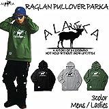 ALASCA パーカー スノーボード RAGLAN PULLOVER PARKA moose 2016-17 スノボー ウェア スノボ スキー 裏起毛 アラスカ メンズ レディース ALASKA