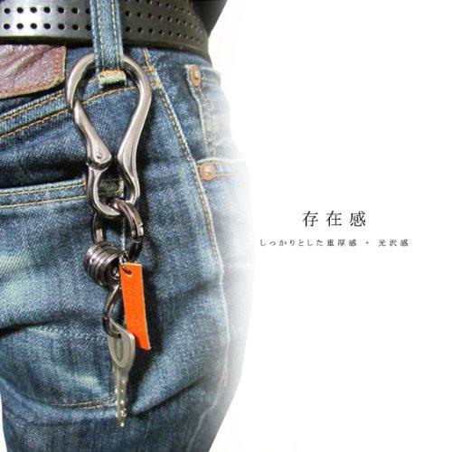 (エッジシティー)EdgeCity カラビナ キーリング キーホルダー フルメタルタイプ 日本製 110239-0047-58