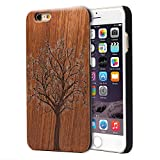 Imikoko iPhone6 6s Plus ケース アイフォン6/6sプラス 携帯カバー case 木 ハード 耐衝撃 おしゃれ 純正