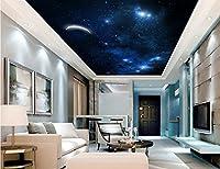 Wapel ムーンスター天井天頂の家の装飾の天井の壁画壁紙 3 リビングルームのための 3D 壁画壁紙 絹の布 300x210CM