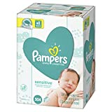 Pampers Sensitive Water Baby Diaper Wipes, Hypoallergenic and Unscented, 504 Total Wipes
